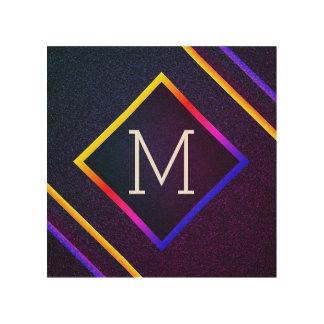 Tela De Madeira Esboços à moda do roxo & do arco-íris com