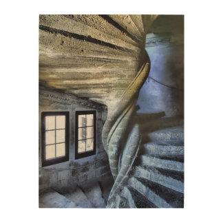 Tela De Madeira Escadaria espiral torcida, France