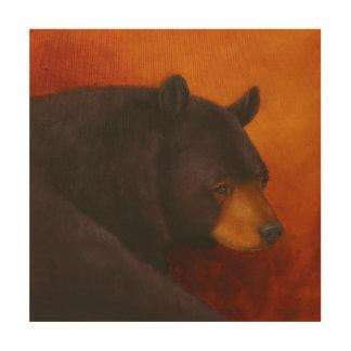 Tela De Madeira Escura sonhando o painel da madeira do urso preto