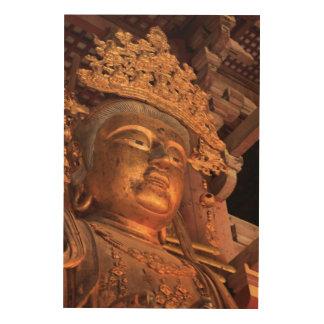 Tela De Madeira Estátua Daibutsu de Buddha