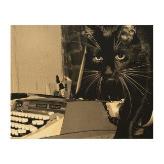 Tela De Madeira Felix o gato