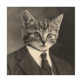 Tela De Madeira Gato #1 do cavalheiro