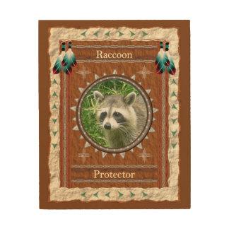 Tela De Madeira Guaxinim - canvas da madeira do protetor