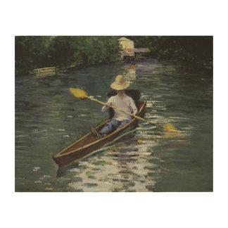 Tela De Madeira Gustave Caillebotte - canoa no Yerres