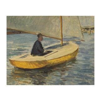 Tela De Madeira Gustave Caillebotte - o barco amarelo