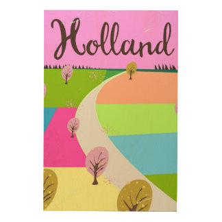 Tela De Madeira Holland coloca o poster de viagens