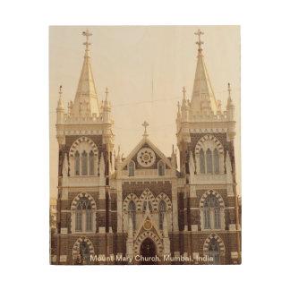 Tela De Madeira Igreja de Mary da montagem, Mumbai