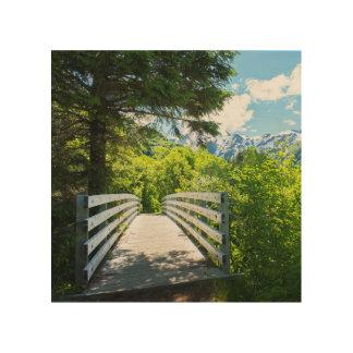 Tela De Madeira Impressão de madeira da ponte de fuga da