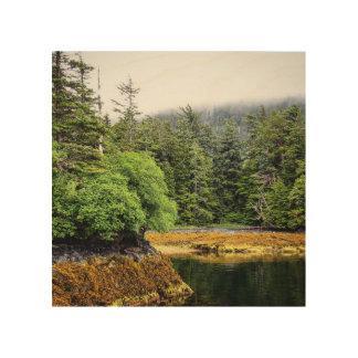 Tela De Madeira Impressão de madeira das vistas verdejantes