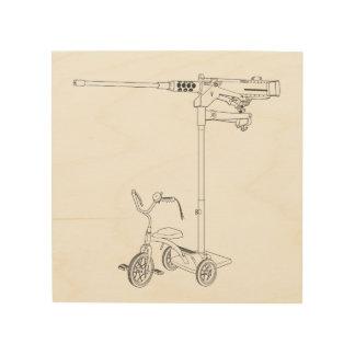 Tela De Madeira impressão de madeira de 30MM Trike
