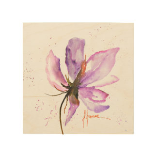 Tela De Madeira IV floral corajoso