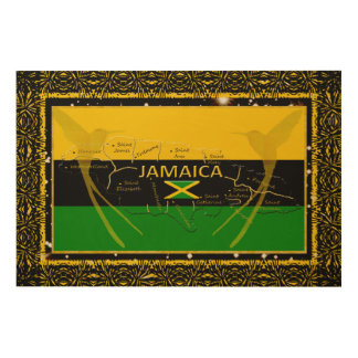 Tela De Madeira Jamaica colore a parede de madeira Art4 do colibri