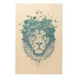 Tela De Madeira Leão floral