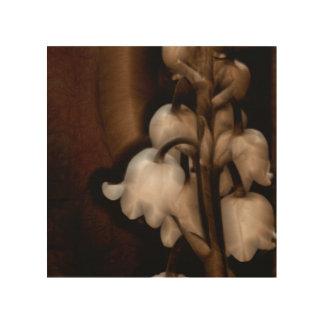Tela De Madeira Lírio da flor do vale em Brown escuro