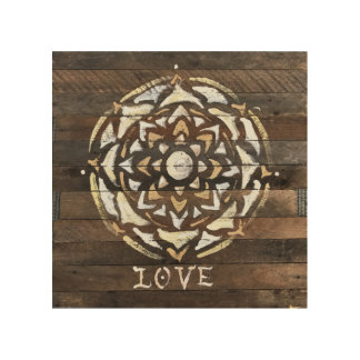 Tela De Madeira Mandala do amor, impressão da arte do original de