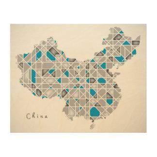 Tela De Madeira Mapa dos trabalhos de arte de cristal do estilo do