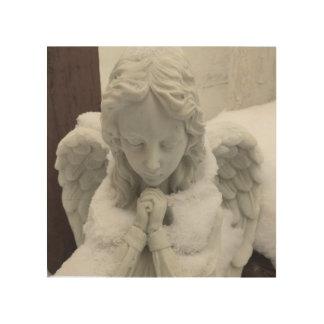 Tela De Madeira Marjorie na oração quieta - arte do anjo