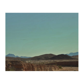Tela De Madeira Montanhas de Nevada