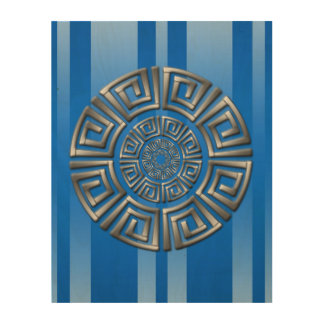 Tela De Madeira Motivo grego do círculo
