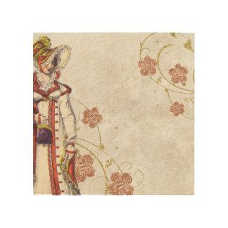 Tela De Madeira Mulher do Victorian