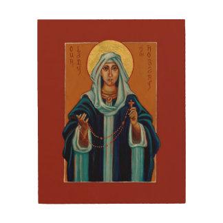 Tela De Madeira Nossa senhora do ícone de madeira do impressão do