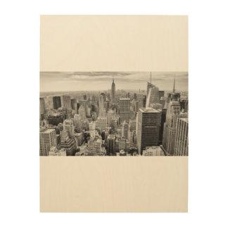 Tela De Madeira Nova Iorque de madeira da arte NYC Manhattan da