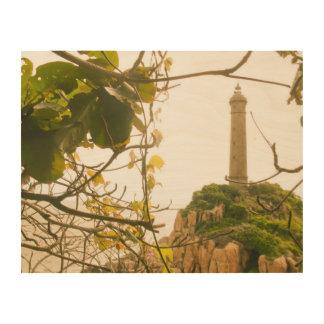 Tela De Madeira O farol o mais alto o mais velho de Vietnam da