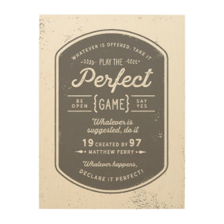 Tela De Madeira O poster da madeira do jogo perfeito
