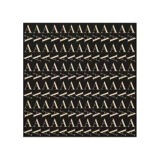 Tela De Madeira O teste padrão inicial do monograma, rotula A no