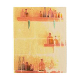 Tela De Madeira O VINTAGE ENGARRAFA a arte da parede da madeira 8