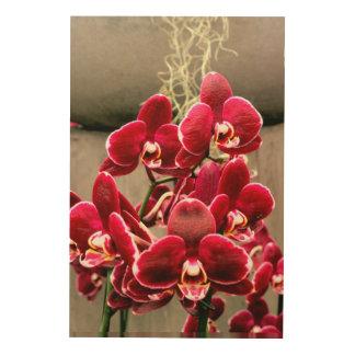 Tela De Madeira Orquídeas