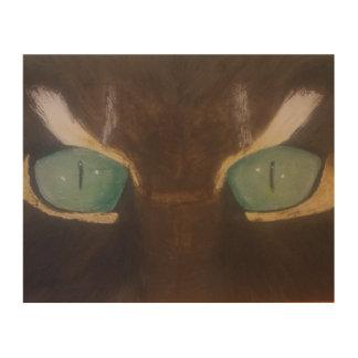 Tela De Madeira Os olhos de gato