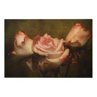 Tela De Madeira Painel de madeira cor-de-rosa empoeirado