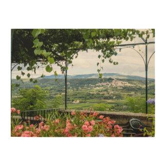 Tela De Madeira Paisagem rural da cidade, France
