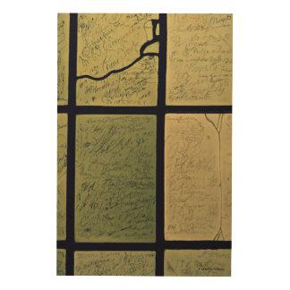 Tela De Madeira Para escrever ou não escrever a arte de madeira da
