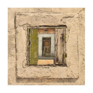 Tela De Madeira Parede, janela e porta