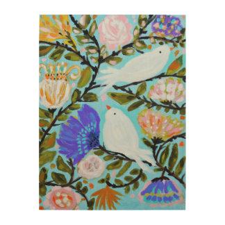 Tela De Madeira Pássaros doces do amor II