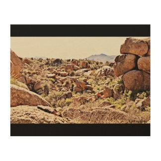 Tela De Madeira Pedregulhos do deserto na parede de madeira art.