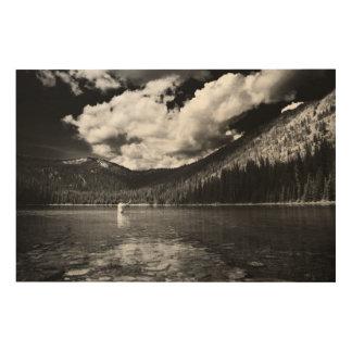 Tela De Madeira Pescador de Montana