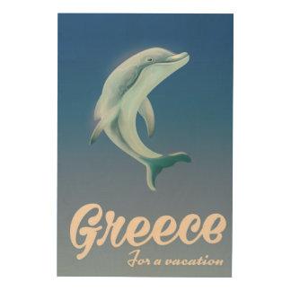 Tela De Madeira Piscina para um poster de viagens do golfinho das