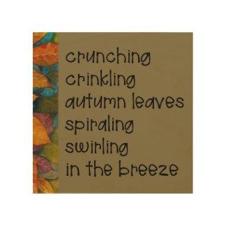 Tela De Madeira Poema das folhas de outono