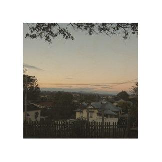 Tela De Madeira Por do sol o1 de Ipswich