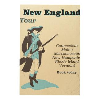 Tela De Madeira Poster das viagens vintage da excursão de Nova