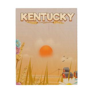Tela De Madeira Poster de viagens bonito da fazenda de Kentucky