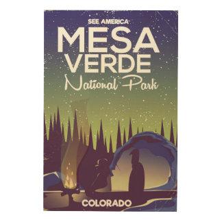 Tela De Madeira Poster de viagens de acampamento do parque