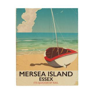 Tela De Madeira Poster vintage de Essex da ilha de Mersea