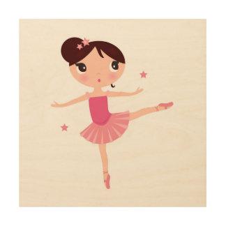 Tela De Madeira Pouco balerina bonito da dança