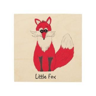 Tela De Madeira Pouco impressão de madeira do Fox