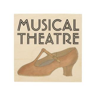 Tela De Madeira Professor dos calçados da dança do caráter de Tan
