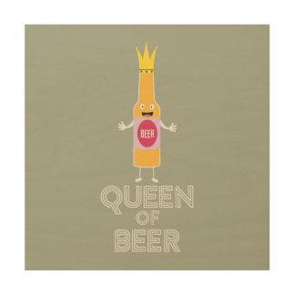 Tela De Madeira Rainha da cerveja Zh80k